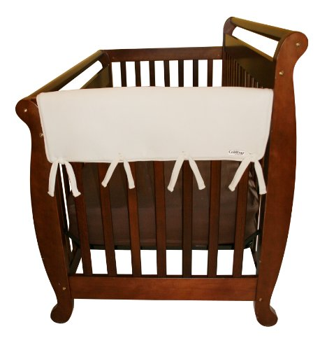 """Trend Lab Fleece CribWrap Rail Covers for Crib Sides (Set of 2), Natural, Wide for Crib Rails Measuring up to 18"""" Around!"""