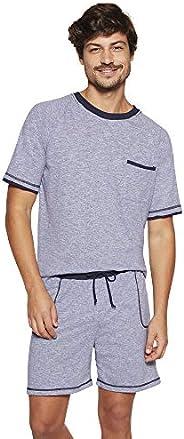 Conjunto de pijama Curto - Costura Mescla Lupo Masculino