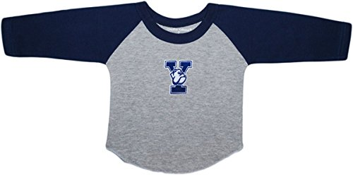 Creative Knitwear Yale University Bulldogs Newborn Baby Toddler 2-Tone Raglan Baseball Shirt Navy