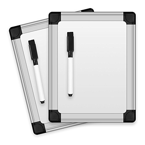 Thorntons Office Products 8.25 in x 6.5 in Locker Mini Lap Board Writing Message Classroom Dry Erase Whiteboard, Set of 2