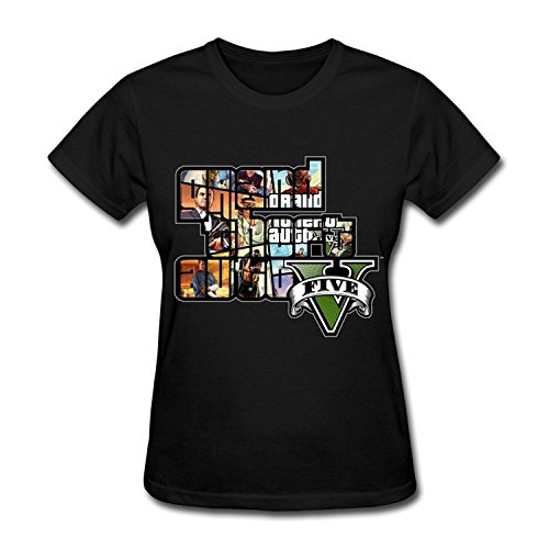 Price comparison product image Boyers Central Women's GTA V Grand Theft Auto Game Logo Short Sleeve T Shirt