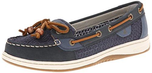 Sperry Top-Sider Women's Angelfish Cotton Mesh Boat Shoe, Navy, 11 M US