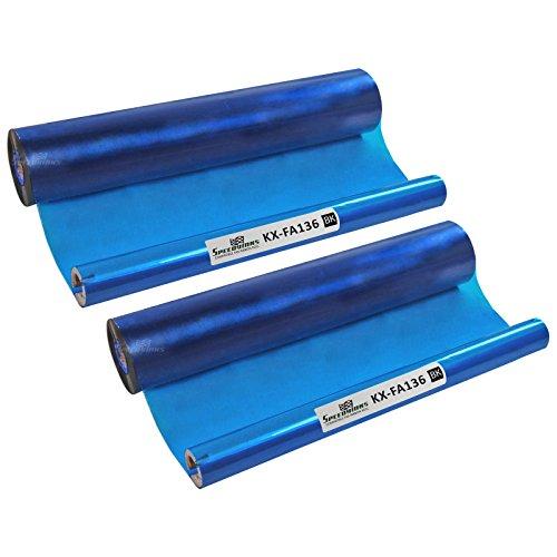 SpeedyInks 2PK Compatible Panasonic KX-FA136 Black Fax Refill Roll for use in KX-FP195, KX-FP200, KX-FM205, KX-FM210, KX-FM220, KX-FMC230, KX-FP250, KX-FM260, KX-FP270, KX-FM280, KX-FP245