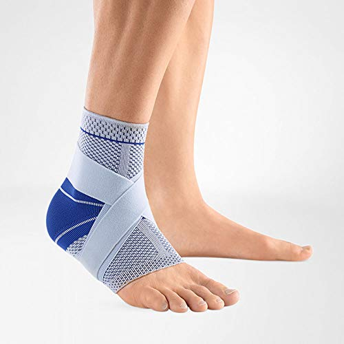 Bauerfeind – MalleoTrain S – Ankle Support – The Ankle Support You Need Doing Physical Activity – Right Foot – Size 5 – Color Titanium
