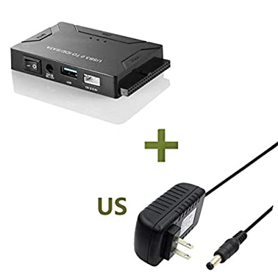 """USB 3.0 to IDE & SATA Converter External Hard Drive Adapter Kit for 2.5""""/3.5"""" IDE SATA SSD Hard Drive Disks with USB 3.0 Cable by Liobaba"""