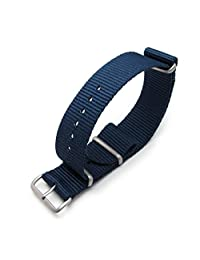 MiLTAT 22mm G10 NATO Watch Strap, Ballistic Nylon, Brushed, Color Black