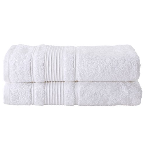 All Design Towels Cappadocia Collection (White, 2 Pack Bath Towels)