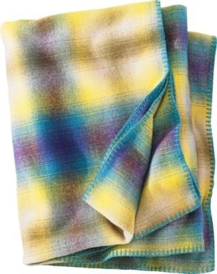Woolrich Home Fawn Grove Throw Blanket, Yellow Ombre