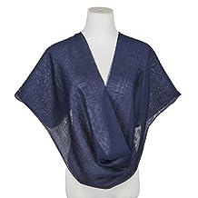 Fashion Satin 100% Silk Georgette Scarf Wedding Shawls Womens Business Gifts
