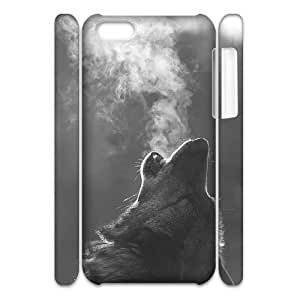 Wolf Brand New 3D Cover Case for Iphone 5C,diy case cover ygtg601396 by icecream design