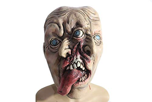 Halloween Zombie Mask,Horror Alien Mask,Creepy Scary Cosplay Costume Party Props (Two-Face Alien) -