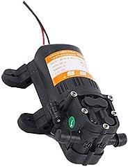 Fityle 12V DC Water Pressure Diaphragm Pump Self Priming Sprayer Pump - 3.5 L/Min 70 PSI for RV Camper Marine