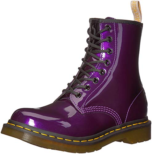 (Dr. Martens Women's 1460 W Vegan Chrome Chukka Boot, Dark Purple, 7 M UK (9 US))