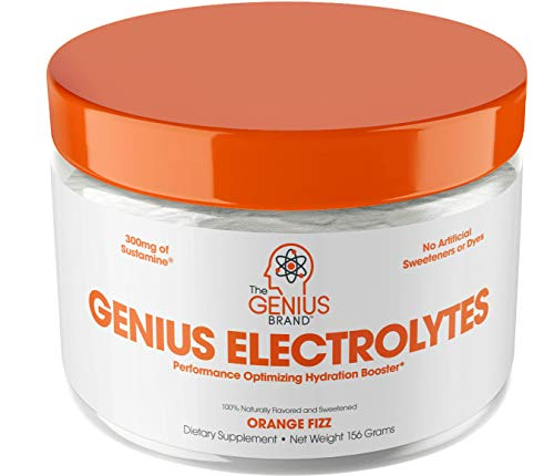 Genius Electrolyte Powder - Natural Hydration Booster | Endurance Supplement with Electrolytes (Potassium, Magnesium, Zinc) - Sugar Free, Vegan, Keto Friendly Energy - Orange Fizz (Drink Mix), 30 Sv ()