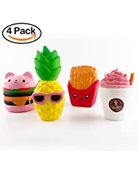 BeYumi Slow Rising Toy, Kawaii Hamburger, Fries, Pineapple, Drinks Set Meal Squishy Cream Scented Decompression Squeeze Toys for Collection Gift, decorative props Large or Stress Relief BOBEBE Online Baby Store From New York to Miami and Los Angeles