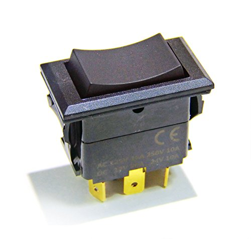 Mom Switch - Genssi Rocker Switch On Off On Momentary Type DPDT 12V 20A or 24V 10A