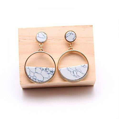 Earrings For Teen Girls,Women Jewelry Retro Crack Artificial Gem Drop Earrings Gift Drop & Dangle,Handmade Drop Earrings,White