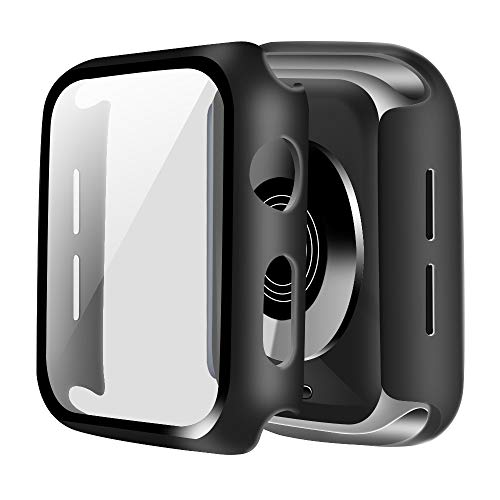 ONMROAD Compatible for Apple Watch Case 40mm with Screen Protector, Matte Black Protective case Replacement for iWatch…
