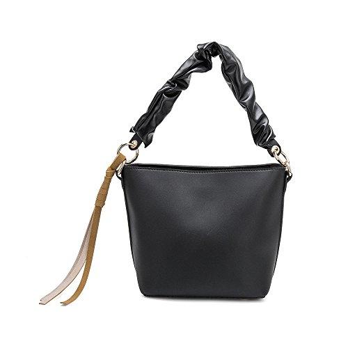 Black Crossbody Bag Melie Bucket Rachel Vegan Leather Bianco SSCwq0F