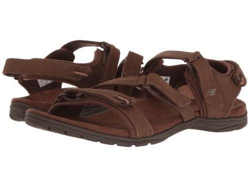 New Balance(ニューバランス) レディース 女性用 シューズ 靴 サンダル Maya Leather Sandal - Brown [並行輸入品]