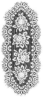 "product image for Heritage Lace Rose Table Runner, 17""x50"", Off-White"