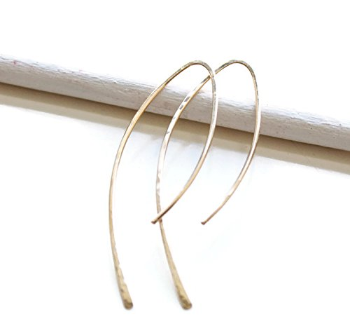Arc shape earrings in 14k rose gold filled, 14k yellow gold filled or sterling silver. Minimalist earrings