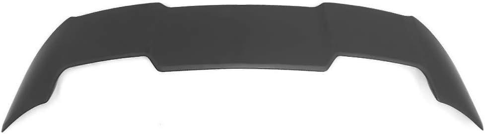 Roof Spoiler Compatible With 2019-2020 Toyota Corolla 4-Door Hatchback IKON MOTORSPORTS Unpainted Black ABS Rear Window Trunk Wing