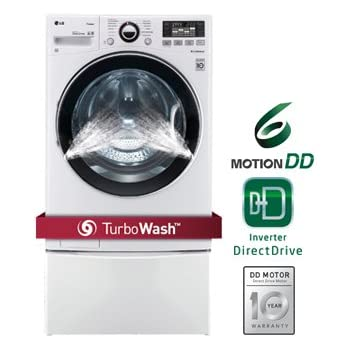 LG WM3470HWATurboWash 4.0 Cu. Ft. White Stackable With Steam Cycle Front Load Washer - Energy Star
