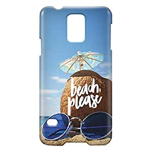 Loud Universe Samsung Galaxy S5 Beach, Please Print 3D Wrap Around Case - Multi Color