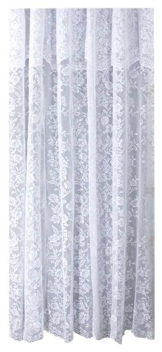 Ricardo Romance Lace White Lace Fabric Shower Curtain With An Attached  Valance, 70 X 72