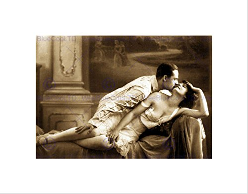 VICTORIAN EROTIC VINTAGE SEPIA RISQUE FRAMED ART PRINT