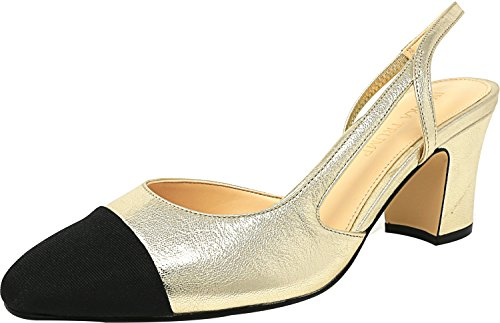 Ivanka Trump Womens Liah Dress Pump In Pelle Oro / Galaxy / Grosgrain
