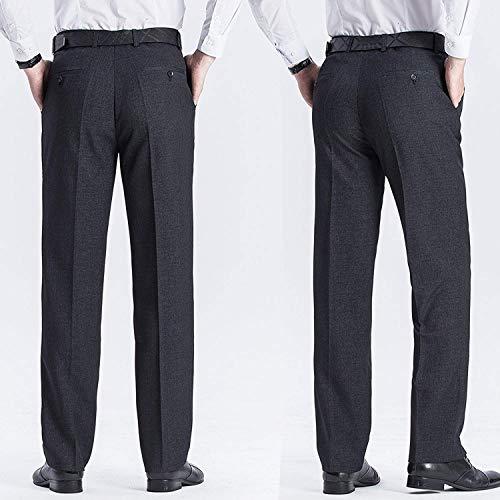 Dritta Regular Pants Freizeithose Fit Leichte Business Anzug Hose Formale Gamba Vintage Work Pantaloni Nero Targogo Ufficio Herren 6qzAwYxWnt