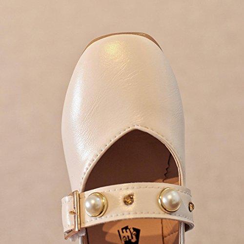 BZLine® Kinder Mädchen Baby Perlen Prinzessin Sandalen einzigen Casual Schuhe Weiß