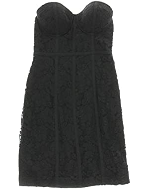 Guess Womens Lace Corset Clubwear Dress