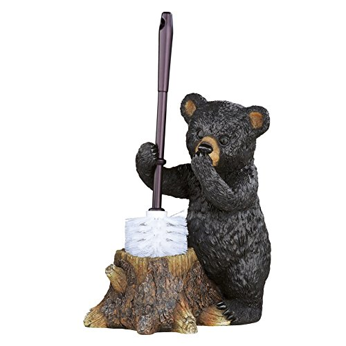 Woodland Bear Toilet Brush Holder, Multi