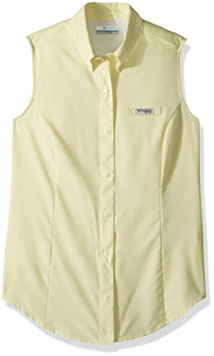 Columbia Women's Tamiami Sleeveless Shirt, Endive, Large For Sale