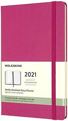 Perman Molang Diary Weekly Planner Agenda Notepad Notebook Hot Pink