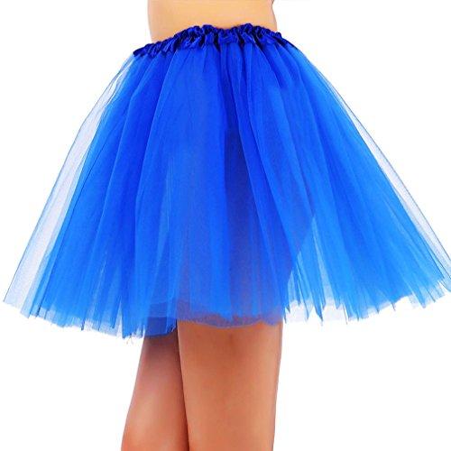 Simplicity Fun 10K Dash Run Adult 3 Layered Ballerina Tutu w/ Stretchy Waistband Royal Blue 7PRAd