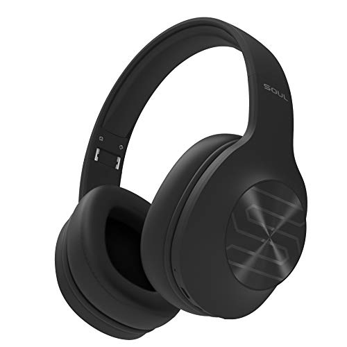 Soul Electronics Ultra Wireless High Definition Dynamic Bass Over-Ear Headphones with Bluetooth, Black