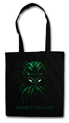 FEAR CTHULHU Hipster Shopping Cotton Bag Cestas Bolsos Bolsas de la compra reutilizables - Wars Horror Arkham H. P. Lovecraft Miskatonic