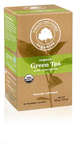 Hands on Herbs Organics Green Tea with Lemongrass | Detox Tea and Metabolism Booster | Weight loss Tea and Powerful Antioxidant Drink | Green Detox and Energy Boost | Organic 25 individual tea bags