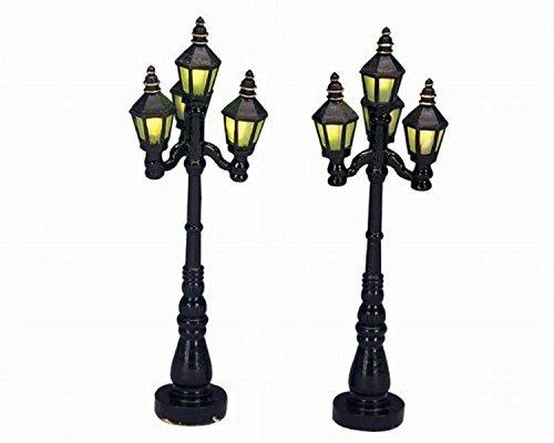 (Lemax Village Old English Street Lamps 2-Piece Set #34902)