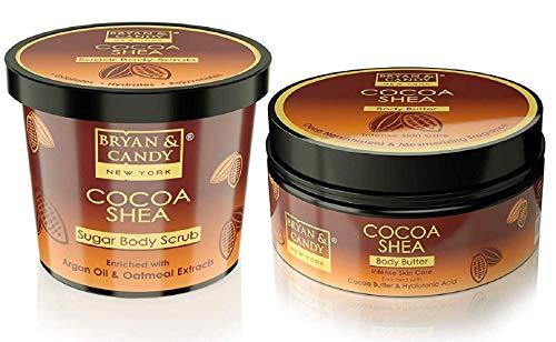 Bryan & Candy NewYork Body Polishing kit, Skin Care Combo,Cocoa shea Sugar Body Scrub 100gm, Body Butter 100gm, Paraben…