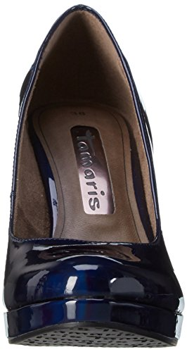 Tamaris Damen 22426 Pumps Blau (Night Blue Pat 845)