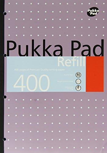 Pukka Pads Nachfüllblock, A4, 400 Seiten, 5 Stück Einzeln 5 weiß