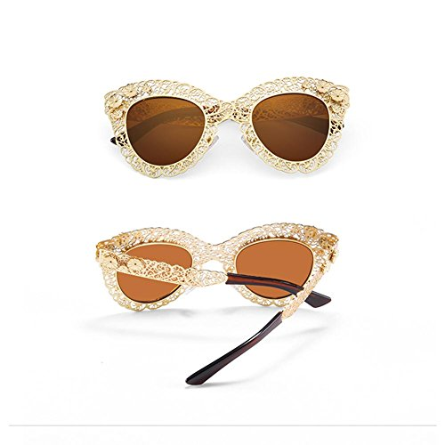 gafas huecas A sol gran de de Alger femeninas retro Gafas sol personalidad de H74q8I