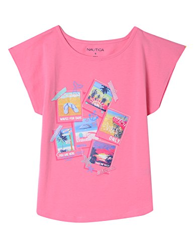 e Fashion Silhouette Graphic Tee Shirt, Bubble Pink Polaroids, 6 ()