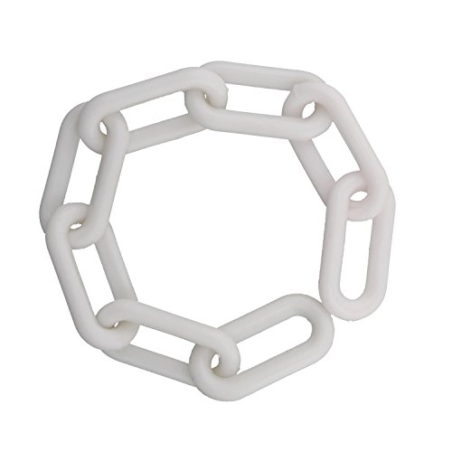 Bob's | Plastic Chain Links in White – 125' Feet Long – White Chain for Crowd Control, Halloween Chains, Prop Chains by Bob's Industrial Supply (Image #2)