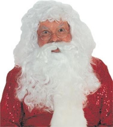 [Santa Wig and Beard Set Costume Accessory] (Synthetic Santa Costumes Beard And Wig Set)